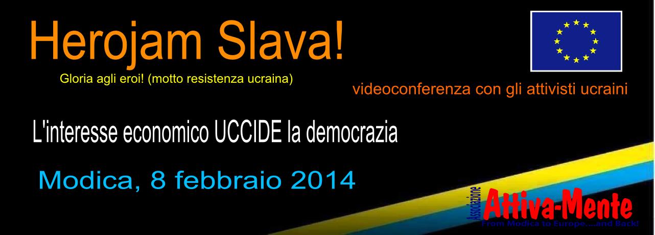 Modica per gli attivisti ucraini – Herojam Slava!