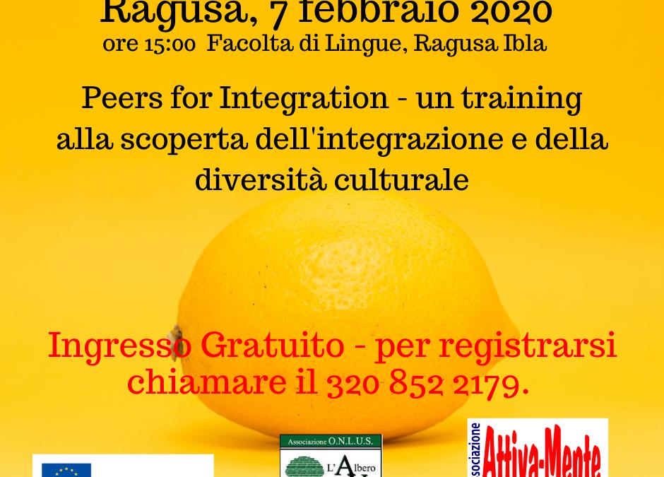 PEERS for INTEGRATION – Workshop sull'integrazione (Ragusa, Febbraio 2020)