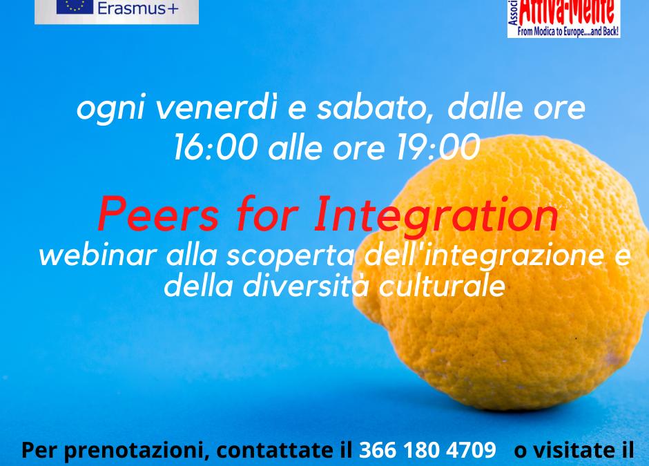 """Webinar sull'integrazione """"Peers 4 integration"""""""