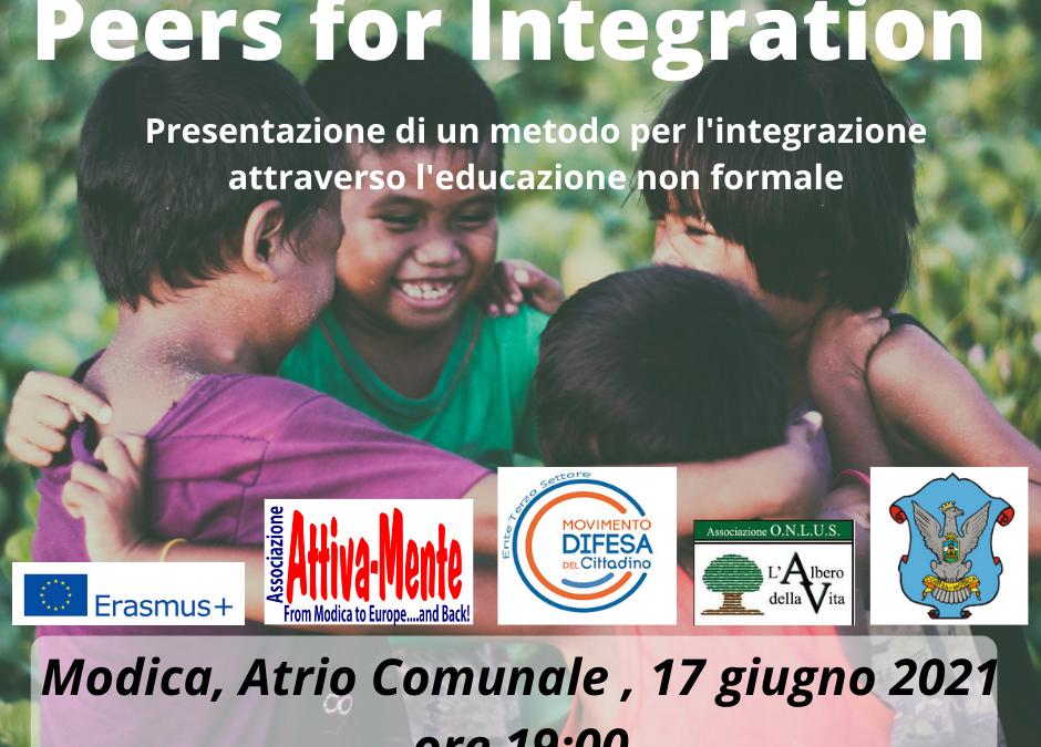 Peers For Integration – Presentazione di un metodo per l'integrazione attraverso l'educazione non formale – 17/06/2021